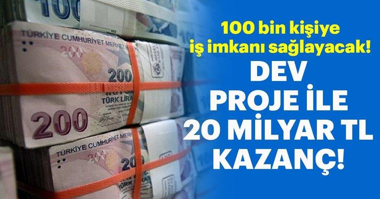 100 bin kişiye istihdam ve 20 milyar lira kazanç sağlanacak!