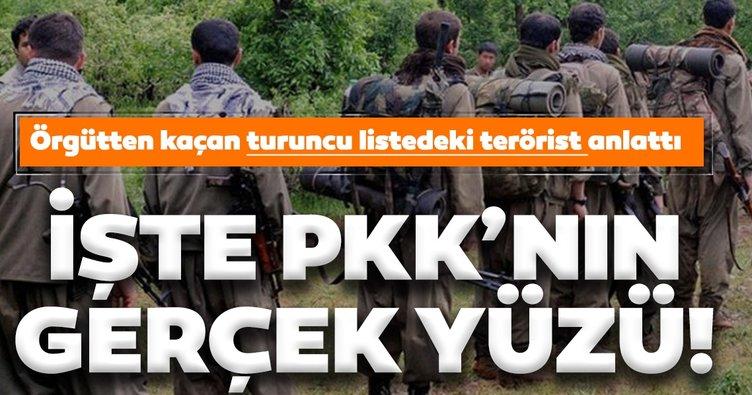 Terör örgütü PKK'dan kaçan turuncu listedeki terörist anlattı! İşte terör örgütünün gerçek yüzü...
