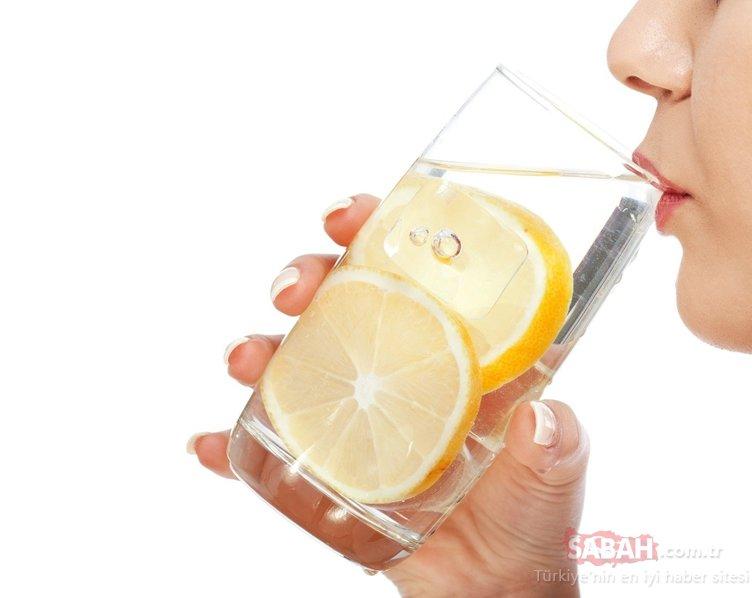 1 ay boyunca limonlu su içerseniz...Vücuda etkisi inanılmaz!
