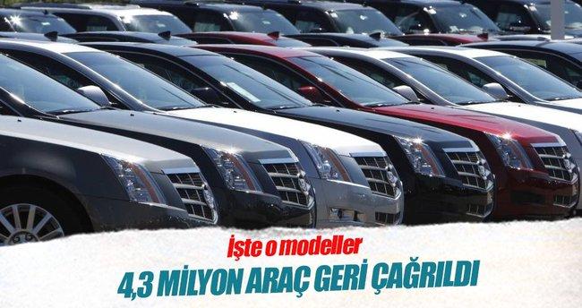 GM 4,3 milyon aracını geri çağırdı
