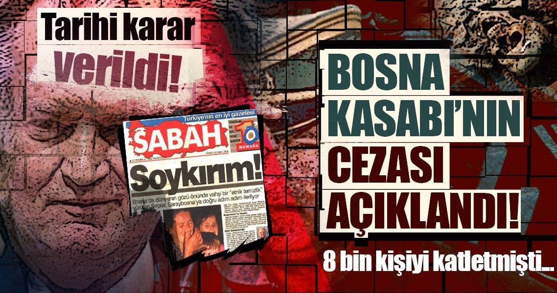 Son dakika: 'Bosna kasabı' müebbet hapis cezasına çarptırıldı