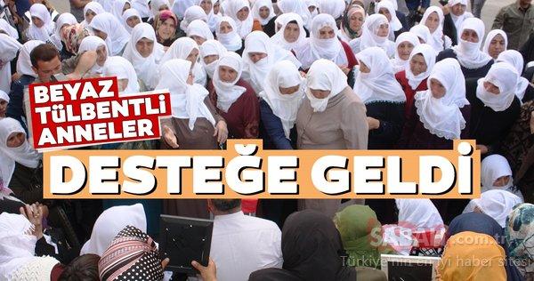 Ağrı'lı Beyaz tülbentli annelerden HDP önündeki ailelere destek