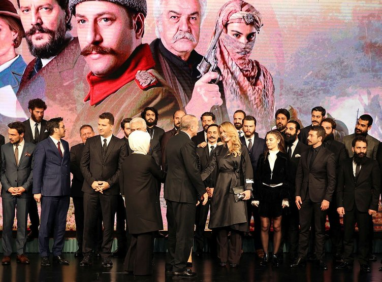 Cumhurbaşkanı Erdoğan, Kut'ül Amare dizisinin tanıtımına katıldı
