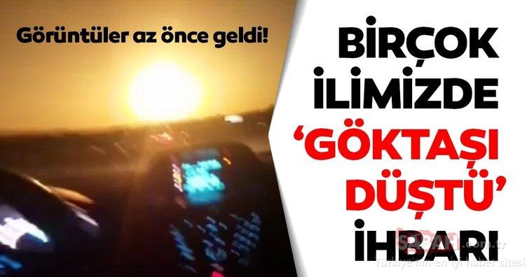 SON DAKİKA HABER: Trabzon'a göktaşı düştü iddiası! Dehşet veren görüntüler dün akşam geldi