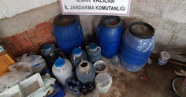 600 litre kaçak içki ele geçirildi