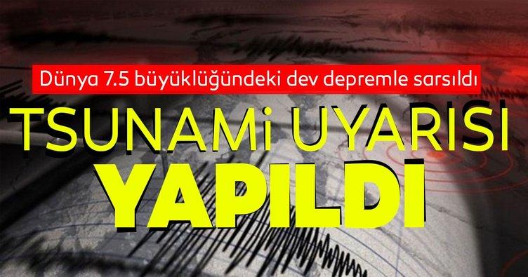 Rusya'da 7.5 büyüklüğünde deprem! Tsunami uyarısı yapıldı