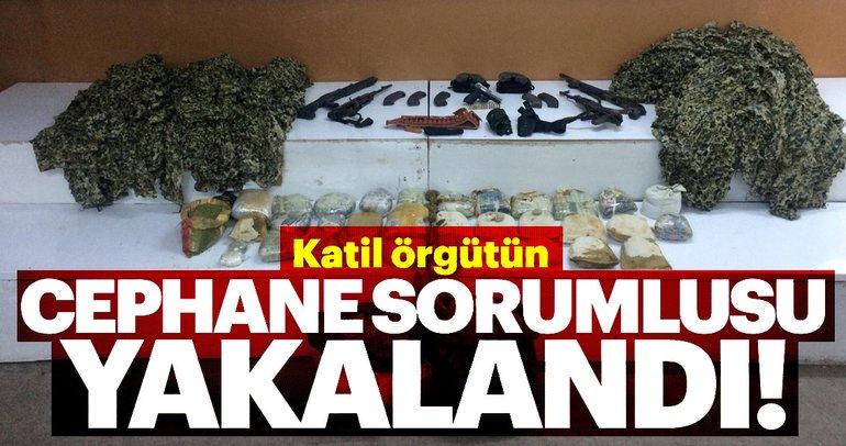PKK'nın cephane sorumlusu yakalandı! Çantasından 44 kilo esrar çıktı