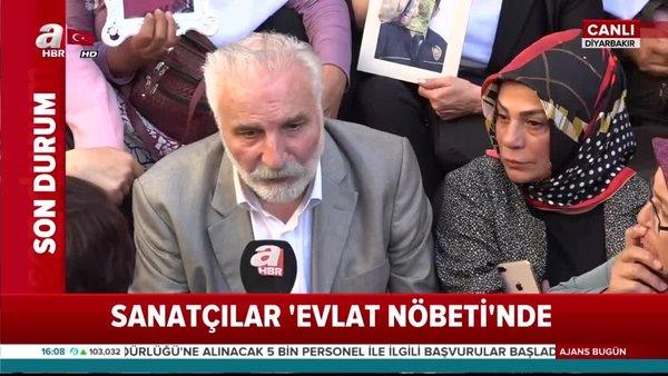 Sanatçılar Diyarbakır'da 'Evlat Nöbeti'nde
