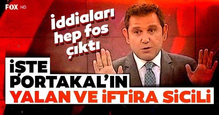 FOX TV Ana Haber sunucusu Fatih Portakal'ın yalanları!