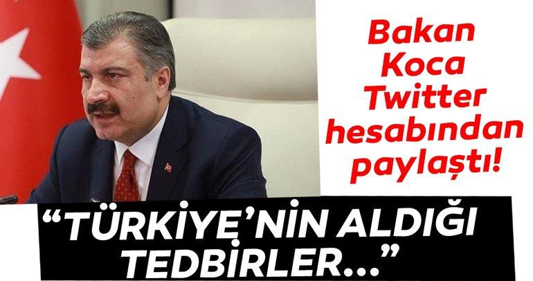 Bakan Fahrettin Koca paylaştı! İşte Türkiye'nin aldığı tedbirlerin Avrupa ile karşılaştırması!