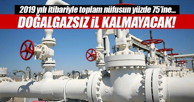 Yatırımlar hızlandı: Nüfusun % 65'i doğalgaza kavuştu