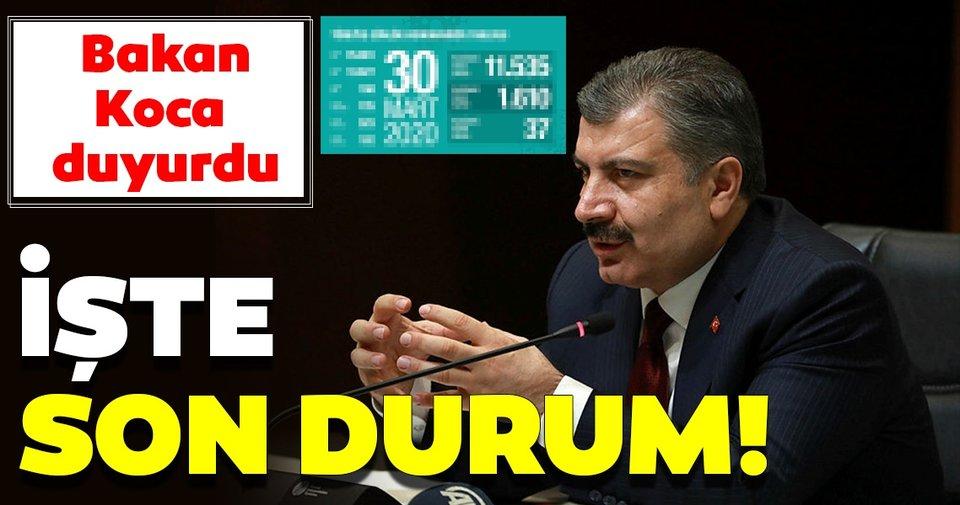Türkiye'de coronavirüs vakalarında son durum! Bakan Koca son dakika duyurdu!