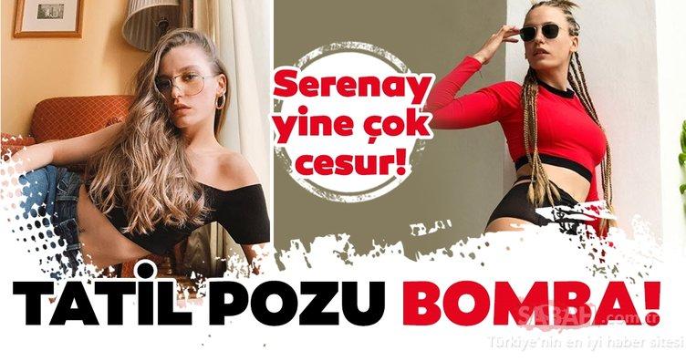 Serenay Sarıkaya tatili iyi değerlendiriyor! Serenay Sarıkaya cesur tatil pozuyla gündeme bomba gibi düştü!