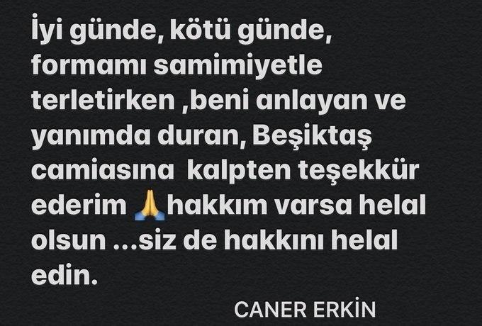 besitkasta gokhan gonulun ardindan caner erkin de resmen ayrildi 1596723206636 - Son dakika: Caner Erkin Beşiktaş'tan ayrıldığını açıkladı