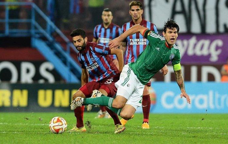 Trabzonspor - Legia Varşova maçının fotoğrafları