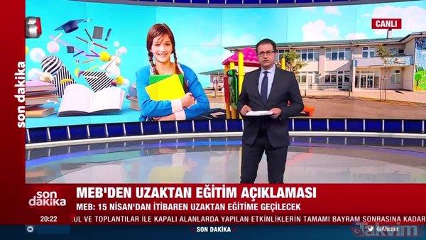 SON DAKİKA HABERİ: Milli Eğitim Bakanlığı açıkladı! 15 Nisan'dan itibaren uzaktan eğitime geçiliyor! | Video