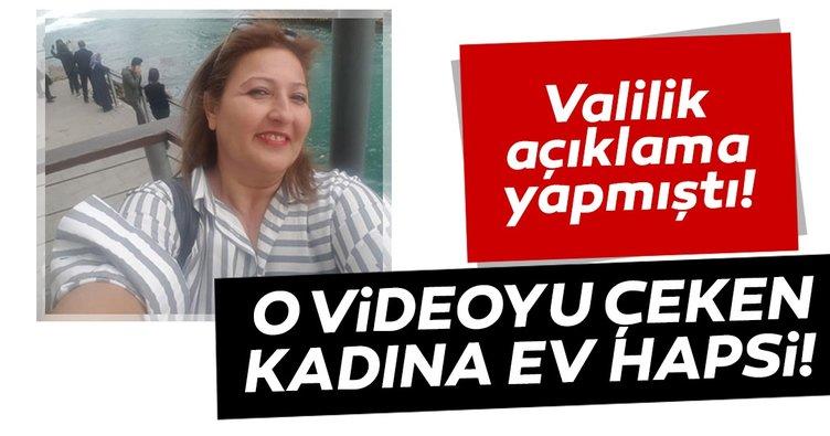 Gaziantep'te paylaştığı videoyla 'koronavirüs için toplu mezar' iddiasında bulunan kadına ev hapsi!