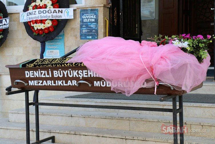 Denizli'de soba faciasında hayatını kaybeden küçük kız çok sevdiği pembe gelinliğiyle son yolcuğuna uğurlandı
