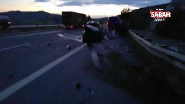 SON DAKİKA HABERİ! Pozantı-Ankara otoyolunda feci kaza! Aynı ailden 5 kişi hayatını kaybetti | Video