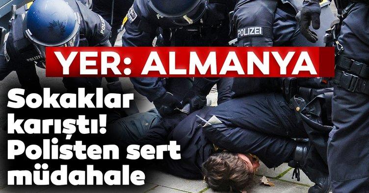 Son dakika: Almanya'da polisten orantısız güç!