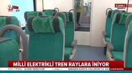 Yerli ve milli elektrikli tren raylarda | Video