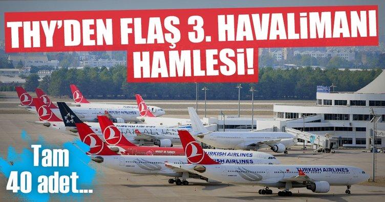 THY, 3. havalimanı için filosuna 40 uçak daha katacak
