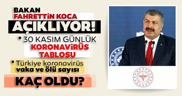 Bakan Koca SON DAKİKA paylaştı! 30 Kasım...
