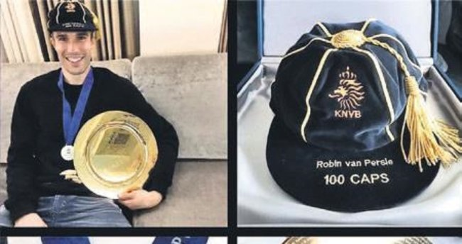UEFA'dan Van Persie'ye altın plaka