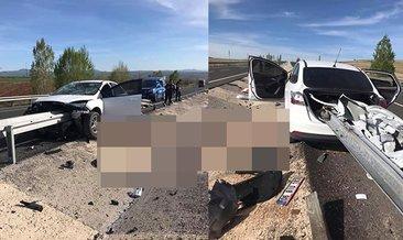 Kayseri'de feci kaza! Sürücünün bacağı koptu...