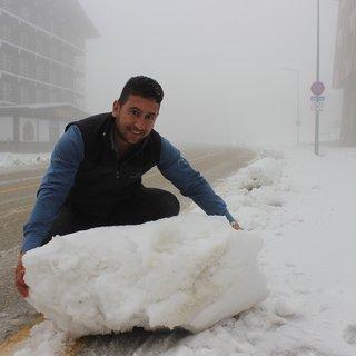 Uludağ'da kar kalınlığı 10 santimetreye ulaştı