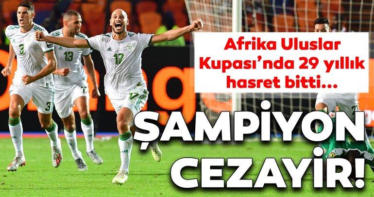 Son dakika: 2019 Afrika Uluslar Kupası'nda şampiyon Cezayir