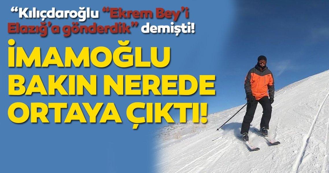 """""""Kılıçdaroğlu """"Ekrem Bey'i Elazığ'a gönderdik"""" demişti! İmamoğlu bakın nerede ortaya çıktı!"""