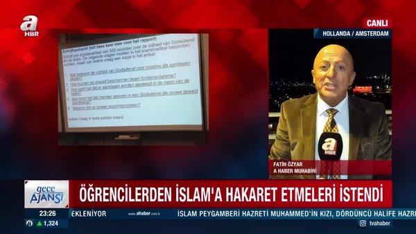 Hollanda'da skandal! Öğrencilere, İslam'ı hedef alan ödev verdiler   Video