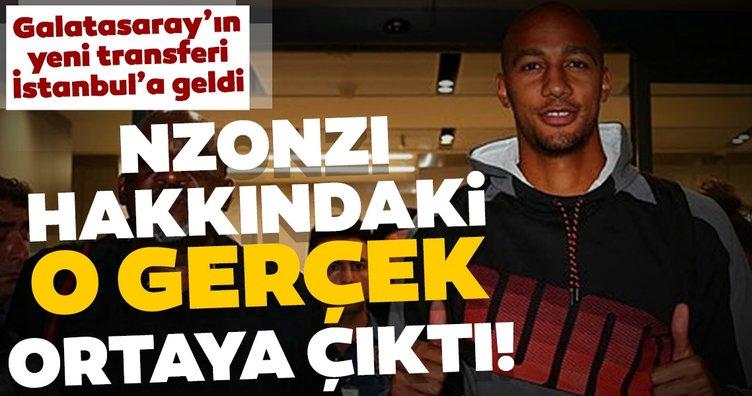 Galatasaray'ın yeni transferi Steven Nzonzi, İstanbul'a geldi