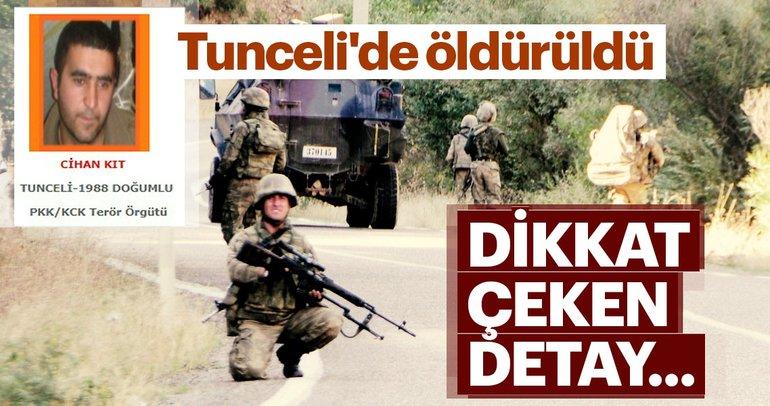 Tunceli'de öldürülen teröristin boynundan haç çıktı