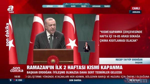Son Dakika Haberi! Başkan Erdoğan: Kafe, kıraathane, lokal, çay bahçesi, spor salonu faaliyetlerine ara verecek   Video