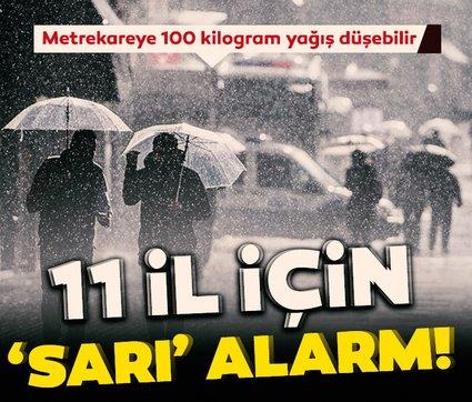 Son dakika haberi! Şemsiyeleri hazırlayın! Meteoroloji'den İstanbul dahil 44 kent için sağanak uyarısı