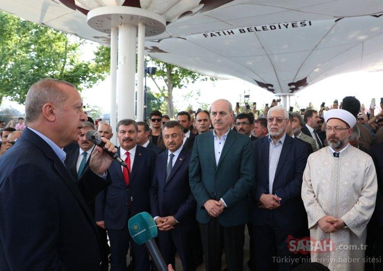 İstanbul'da Mursi için kılınan gıyabi cenaze namazında Başkan Erdoğan da saf tuttu