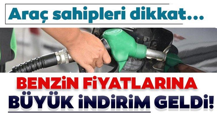 SON DAKİKA | Benzin fiyatlarına büyük indirim geldi: İşte yeni fiyatlar!