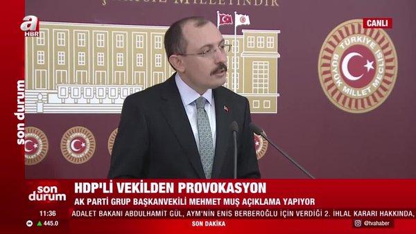 Son dakika. AK Parti Grup Başkanvekili Mehmet Muş'tan HDP'li vekilin provokasyonu hakkında flaş açıklamalar | Video