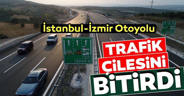 İstanbul-İzmir Otoyolu trafik çilesini bitirdi