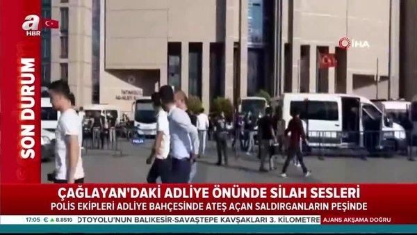 Son dakika haberi: İstanbul'da Çağlayan Adliyesi önünde silahlı çatışma! Dehşet anı görüntüleri ortaya çıktı | Video