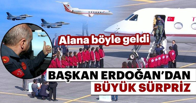 Cumhurbaşkanı Erdoğan, TEKNOFEST alanına böyle geldi