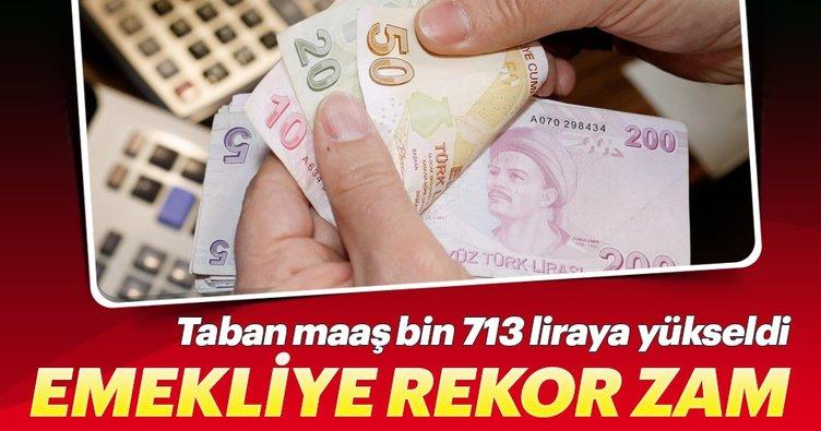 Emekliye en az bin 713 lira