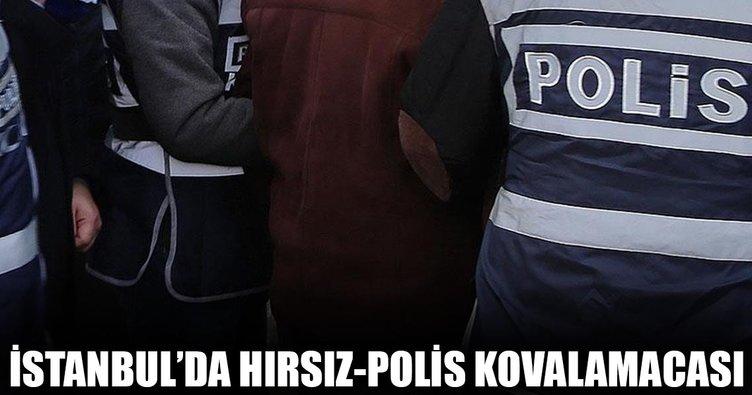 İstanbul'da hırsız-polis kovalamacası