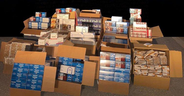Sigara kaçakçılarına ağır darbe: 4 ilde 20 gözaltı