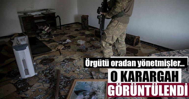 Mehmetçik Afrin'de terör örgütünün karargahını buldu! İşte o merkezin görüntüleri!