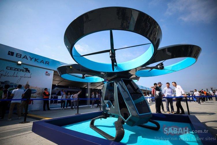 Milli uçan araba Cezeri  TEKNOFEST'te görücüye çıktı