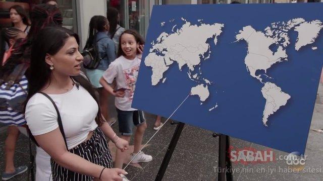 Haritada herhangi bir ülke gösterip adını söyleyebilir misiniz? Kendi ülkelerini bile gösteremediler...
