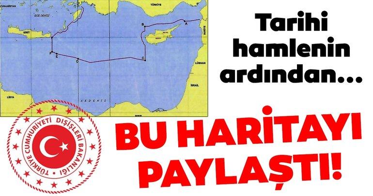 Bakanlık o haritayı paylaştı! İşte Türkiye'nin Doğu Akdeniz'deki kıta sahanlığı ve MEB sınırları